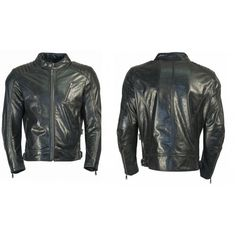 Leather Rider Men Black Cowhide Leather Motorcycle Leather Jacket