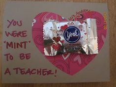 Teacher Valentine Card