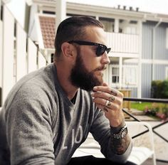 Ray Bans, Beard, Tattoos, Fashion.