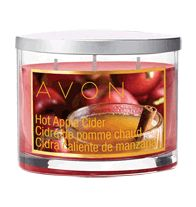 """My Favorite!!! Hot Apple Cider Scented Candle Fragrant like your favorite fall beverage: apple, cinnamon, nutmeg, blackberry & quince. Wax in 11 oz. glass jar with brushed mtal cover. Each 3 1/2"""" H x 3 3/4"""" diam. Made in the USA.   Never leave burning candles unattended. Keep out of reach of children."""