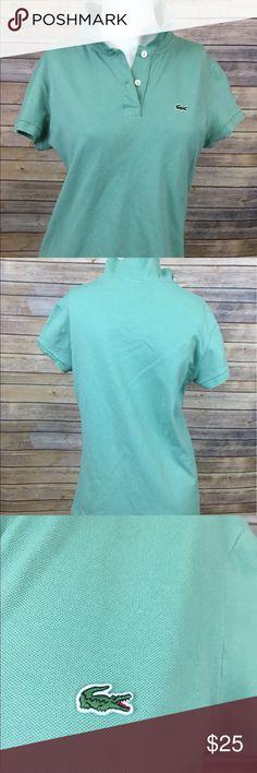 Lacoste Women Polo Shirt Seaform Green Lacoste Polo Shirt Size 44. Lacoste Tops
