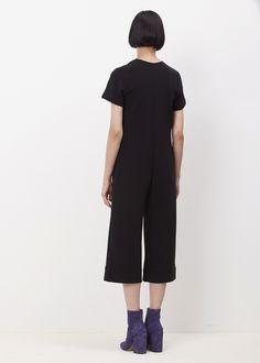 Nomia Short Sleeve Cropped Jumpsuit (Black)