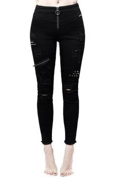 Women's Bottoms | Jeans, Leggings, Skirts & Shorts | Killstar Gothic Outfits, Emo Outfits, Grunge Outfits, Streetwear, Gothic Leggings, Urban, Boyfriend Tee, Gothic Fashion, Witch Fashion