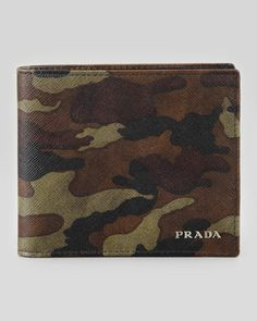 Saffiano Bi-Fold Wallet, Camo by Prada at Neiman Marcus.