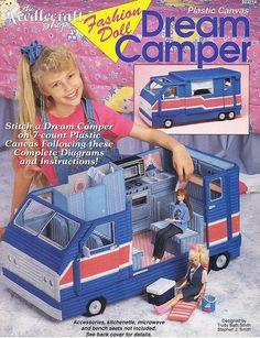 Dream Camper Plastic Canvas Fashion Doll by howtobooksandmore