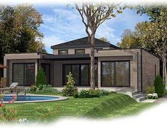 Bright and Airy Contemporary Home - 90240PD   Contemporary, Canadian, Metric, Narrow Lot, 1st Floor Master Suite, Butler Walk-in Pantry, CAD Available, PDF, Split Bedrooms   Architectural Designs