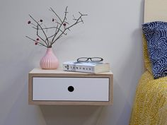 Floating Nightstand, Floating Shelves, Plywood Shelves, Masonry Wall, Painted Drawers, Ral Colours, Drawer Fronts, Types Of Wood, Diys