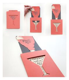 Cocktail invite by rifle co http thecraftsdept marthastewart com