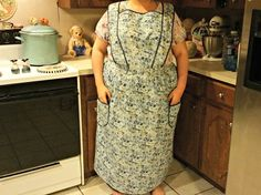 Just finished a size 3x rush apron. This was made in 1 day for $79 with in stock fabric. $60 for plus size aprons before shipping. Order your customized apron here: https://www.etsy.com/listing/224614103/quaker-apron-pioneer-apron-hand-sewn