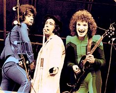 Sensational Alex Harvey Band guitarist Zal Cleminson (right)....don't let the makeup and bodysuit fool you...the man can play!