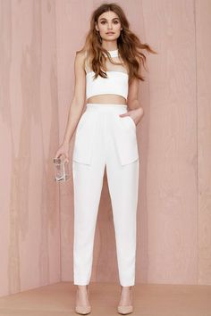 Cameo On Top Layered Trouser | Nasty Gal