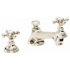 California Faucets 6002-BIS Del Mar Biscuit  Two Handle Widespread Bathroom Faucets  | eFaucets.com
