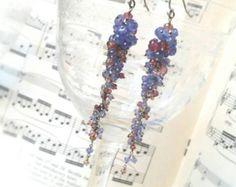 Tanzanite Periwinkle Wisteria Earrings