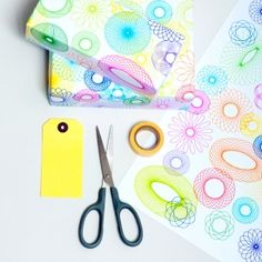 Put your old Spirograph to good use and make some cool wrapping paper.