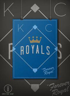 Kansas City Royals Forever Royal Retro by DimestoreSaintDesign