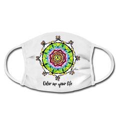 Das Leben ist so bunt wie dieses Mandala und irgendwie hängt alles zusammen und ist miteinander verbunden. Shirt Designs, Your Life, Bunt, Color, Protective Mask, Drawing S, Life, Colour, Colors