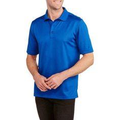 George Big Men's Short Sleeve Performance Polo, Size: 5XL, Blue
