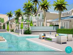 By Pralinesims Found in TSR Category 'Sims 4 Residential Lots' Villa, Tropical, Houses, Mansions, House Styles, Outdoor Decor, Sims 4 Houses, Dream Homes, Homes