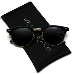 aabd9514991 Price   12.99 Polarized Clubmaster Classic Half Frame Semi-Rimless Rimmed  Sunglasses