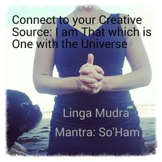 #Meditation: Elevation #Mudra: Linga connecting to our highest creative upward flow energy to heal & clear  #Manta: So'Ham. Inhale So, exhale Ham. I am that which is connected to all beings in the Universe & and I am here to nourish that connection