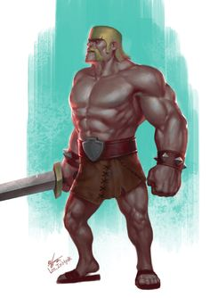 ArtStation - Clash of Clans, InHyuk Lee Coc Clash Of Clans, Clash On, Barbarian, I Am Game, Legos, Pop Culture, Concept Art, Fan Art, Statue