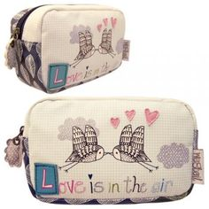 Love is in the air - makeup bag
