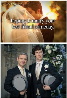 """I have a feeling that these are their reactions to reading it. John's all like, """"yeah so true"""" and Sherlock is thinking """"wut"""" but I think it would be the other way around."""