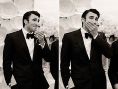 Image result for wedding groom reaction pictures church