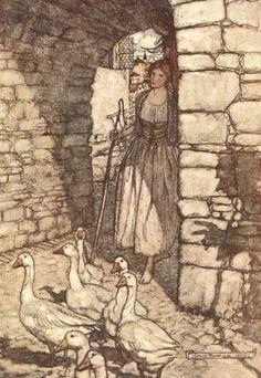 Goose Girl  by Arthur Rackham