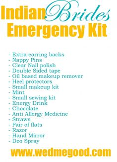 What to put in Your Bridal Emergency Kit