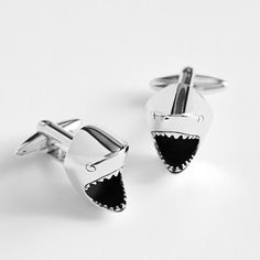 Shark Cufflinks ($ 239.95) | Cool Gifts For Guys | THE MINDFUL SHOPPER