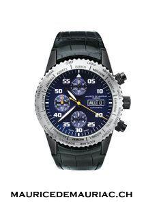 Swiss made chronograph modern watch from Maurice de Mauriac. Swiss watches for men.  http://www.mauricedemauriac.ch/