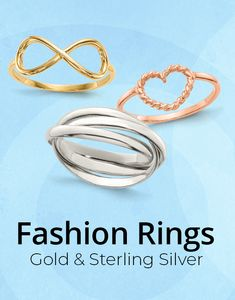 Always timeless, always in fashion: gold and sterling silver simplistic ring designs have styling that never ages! Find your style here: #QualityGold #Rings #GoldRings #FashionRings #jewelry #SterlingSilverJewelry #GoldJewelry