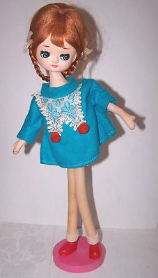 Vintage Japan cloth pose doll