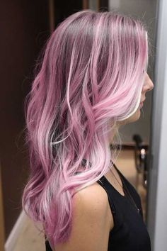 Bubble gum pink. When my hair is fully silver I want to experiment with fun temporary colors