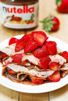 Strawberry and Nutella Crepes | Community Post: 28 Mouthwatering Strawberry Recipes To Get You Pumped For Spring