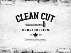 "Create a classic, rugged, rustic, original and ""clean cut"" logo for ayoung construction/carpentry company Construction Company Logo, Door Letters, Name Card Design, Fitness Logo, Rustic Design, Business Logo, Logo Design Inspiration, Logos"