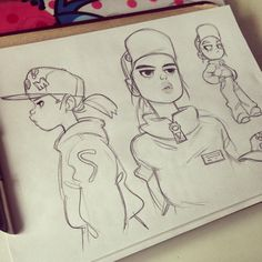 Anna Cattish #sketching #girls