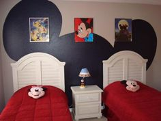 mickey mouse wall decor ideas. Not hard to do!!