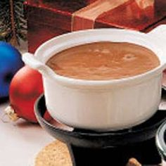 Dessert for Fondue Night-Chocolate Mallow Fondue Recipe | Taste of Home Recipes