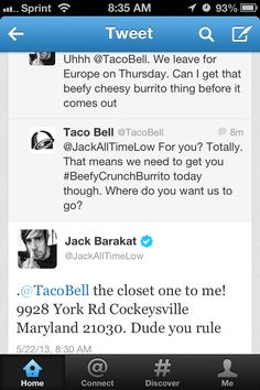 Jack's relationship with Taco Bell