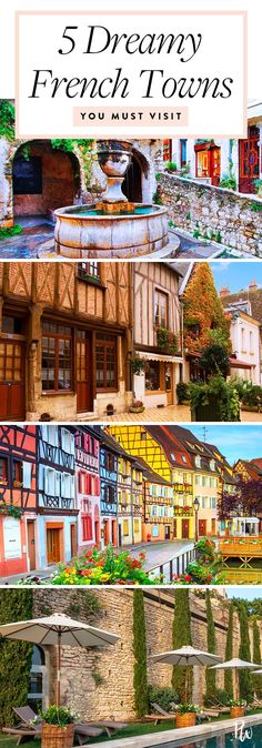 traveling france - 5 French Towns You've Never Heard Of but Should Most Definitely Visit New Travel, Paris Travel, Travel Goals, France Travel, Summer Travel, Vacation Travel, The Places Youll Go, Cool Places To Visit, Places To Travel