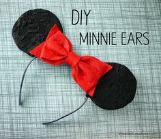 DIY Project – Minnie Ears Headband - extra fancy with lace overlay!