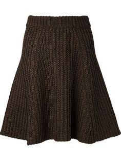 Shop Proenza Schouler cable knit A-line skirt.