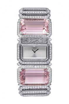 #chronowatchco Kunzite and diamond secret watch - Cartier
