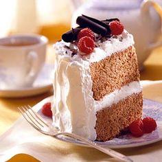 Valentine's Cocoa Angel Cake