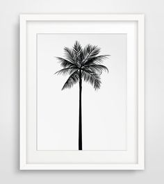 Palm Tree Print Palm Leaves Print Palm Tree by MelindaWoodDesigns