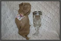 Redneck Wine Glass 8oz Gift Wrapped in Burlap Bag by Paul Enterprises, Inc. $12.89. Mini mason jar stemware comes with screw on lid.. Handmade, no two exactly alike.. Your redneck friends will envy this extra classy wineglass.. * (Hand Wash). * Glass Comes in a Burlap Sack with Red Neck Tag Making a Great Gift.. RedNeck Wine Glass, 8oz  You don't have to reside in the backwoods to appreciate the humor. A great conversation piece, whatever your pleasure, from wine to white li...