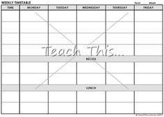 Weekly Planner Editable