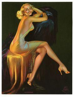 Pin-Ups de Laurette et Irène Patten Vintage Images, Vintage Art, Vintage Pictures, Vintage Style, Woman In Gold, Nose Art, Pin Up Art, Pin Up Style, Retro Art